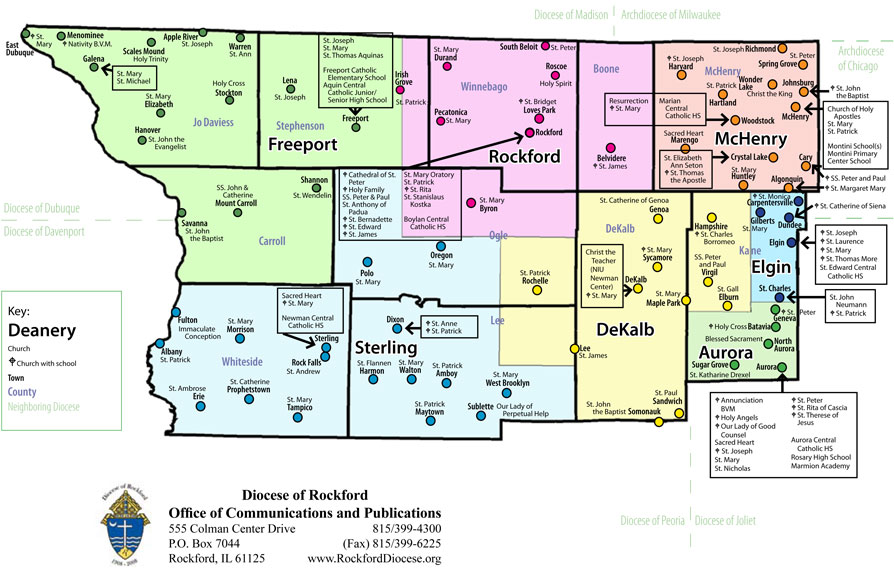 Diocese of Rockford Map